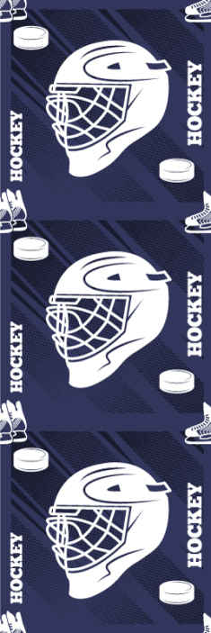 TenStickers. Hockey Helmet Teenage Wallpaper. Are you a hockey player? if yes then this featured hockey helmet wallpaper is for you. It is made with deep blue background with prints of helmet.