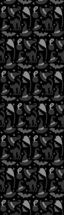 TenStickers. Different scary creatures Halloween Black Room Wallpaper. Looking for a scary design to decorate your space for Halloween festival? here we have for  you a horrific Halloween featured wallpaper design.