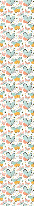 TenStickers. butterflies and bees Bedroom Wallpaper. Decorative insect wallpaper for children. The design consist of amazing prints of double coloured butterflies and bees. Easy to apply and durable.