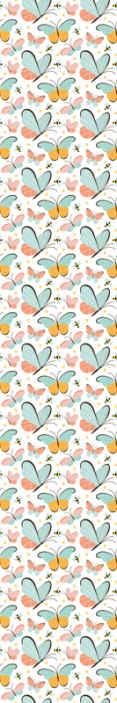 TenStickers. Tapisserie Papillons et abeilles. Papier peint décoratif insecte pour enfants. La conception se compose d'impressions étonnantes de papillons et d'abeilles bicolores. Facile à appliquer et durable.