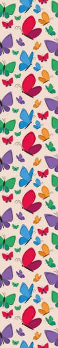 Tenstickers. Fjärilar som flyger för barn sovrum tapeter. Dekorativa flygande fjärilar tapeter för barn. Designen har fantastiska färgglada fjärilar som skulle beundras och fantaseras av barn.