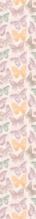 TenStickers. Colored ornamental butterflies Living Room Wallpaper. Decorative colorful butterflies wallpaper. The design is decorative for living room and other space.  It contains different colours of butterflies.