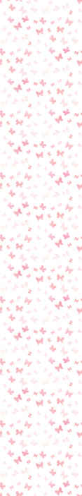 TenStickers. Pink butterflies Bedroom Wallpaper. Children bedroom wallpaper printed with little pink butterflies on white background. Improve your child's space in an amazing way with our design.