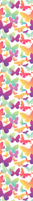TenStickers. Gradient butterflies Living Room Wallpaper. 3D gradient butterflies wallpaper. This design would make any space applied on appear attractive and  lovely and you would be feel satisfied with it.
