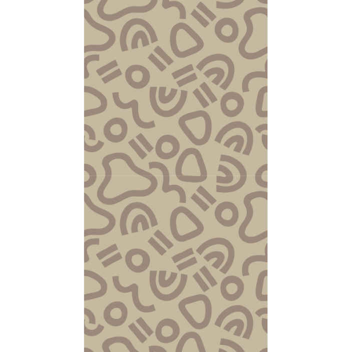 TenStickers. Modern abstract curve Cool abstract wallpaper. Modern abstract curves wallpaper for an unconventional  home decoration. This design contain different geometric shapes. Easy to apply