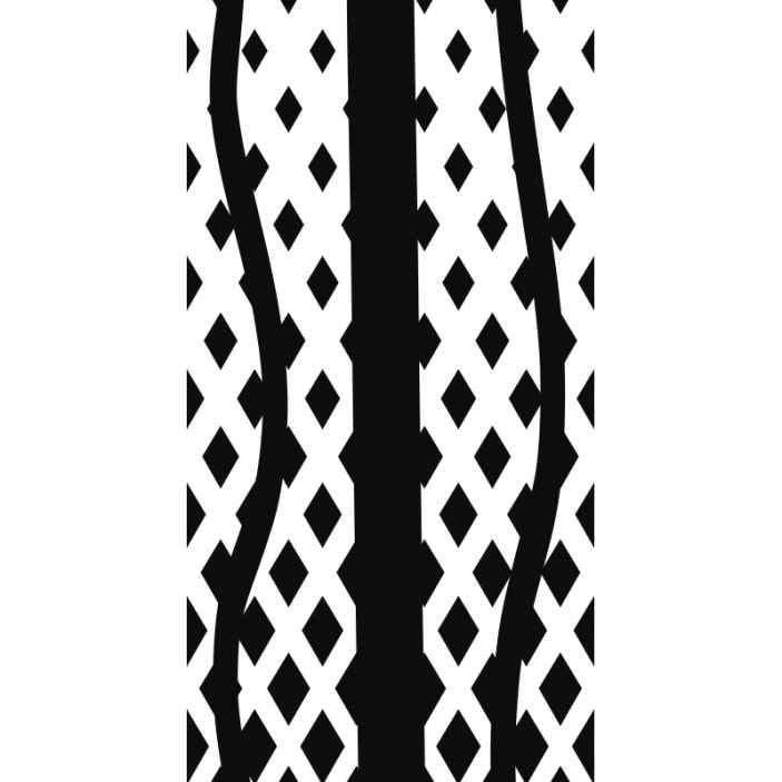 TenStickers. Parati moderni Trippe nere. Carta da parati realistica in bianco e nero per la decorazione di casa e ufficio. è facile da applicare e realizzato con materiale di alta qualità.