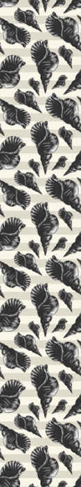 TenStickers. Hand draw seashell vintage Seashell wallpaper. An alluring decorative wallpaper of snail shells just perfect to decorate your living room to install a touch of underwater animal evidence on it.