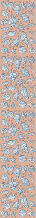 TenStickers. Seashell Sketches Seashell wallpaper. Let your home space space be an attraction sight with our amazing decorative different seashell prints wallpaper installed on the wall.