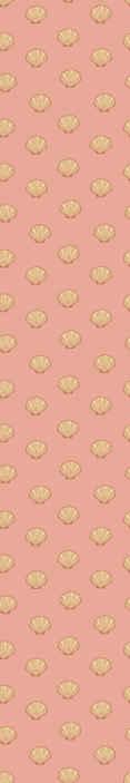 TenVinilo. Papel pared animales de conchas doradas. Con este papel pintado moderno y colorido de conchas tu casa se verá decorada acorde las nuevas tendencias decorativas ¡Envío exprés!