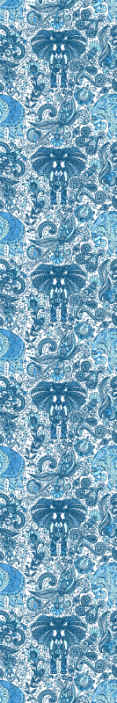 TenStickers. Ornamental elephants blue Cool animal wallpaper. Ornamental elephants animal prints wallpaper in blues colour. An amazing design to decorate the room of children. It is original and easy to apply.