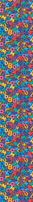 TenStickers. Carta da parati cameretta Modello di lettere. Carta da parati educativa per camera da letto per bambini adatta. Un disegno con alfabeto multicolore dalla a alla z in minuscolo e lettere. Facile da applicare e durevole.