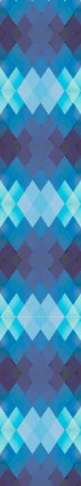 TenStickers. Tapeta 3D Niebieskie romby. Idealny sposób na udekorowanie każdej przestrzeni w pokoju tą piękną tapetą z geometrycznymi figurami 3d. Produkt wysokiej jakości.