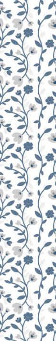 TenStickers. Absztrakt virágok kék és szürke természet háttérkép. Szép absztrakt virágok kék és szürke hálószoba háttérkép. Remek design, könnyen használható illusztrációkkal.
