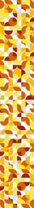 TENSTICKERS. ヴィンテージスタイルのオレンジと黄色のレトロな壁紙. 素敵なフォンタージュスタイルのオーガンジーと寝室用の黄色の壁紙。使いやすく、誰でも応募できるイラスト入りの素敵なデザイン。