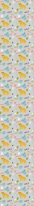 TenStickers. Abstract with leopeards in gray background Cool animal wallpaper. Wonderful abstract with leopards in gray background wallpaper for the bedroom. A great design with illustrations that is easy to use.