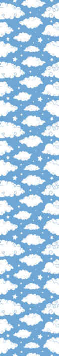 TenStickers. Bulutlar ile mavi gökyüzü çocuklar duvar kağıdı. Dekoratif mavi gökyüzü bulutlar çocuk duvar kağıdı ile. Çocuğunuzun odasında harika bir atmosfer yaratmak için güzel tasarım. Orijinal ve dayanıklı.