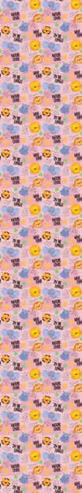 TenStickers. For kids pink african Cool animal wallpaper. You can decorate the room of your kid with this jungle animal inspired featured wallpaper. It is original and easy to apply.