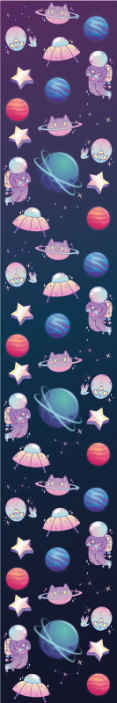 TenStickers. Connected Planets Kids Wallpaper. Children bedroom wallpaper with different  space elements illustration. Children would love this space science inspired wallpaper in their room space.