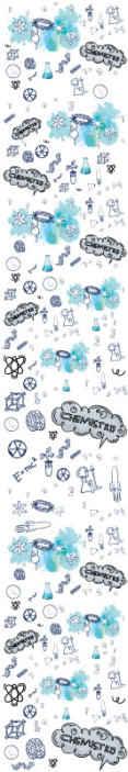 TenStickers. Tienerkamer behang Chemie. Decoratieve wetenschappelijke laboratoriumapparatuur behang met apparatuur voor chemie praktisch en illustratie van een ander wetenschapsgebied.