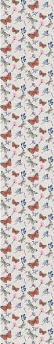 TenStickers. Sommerfugl og guldsmed natur tapet. Sommerfugletapet, der har et mønster af smukke sommerfugle og guldsmed med blomster og blade imellem dem.