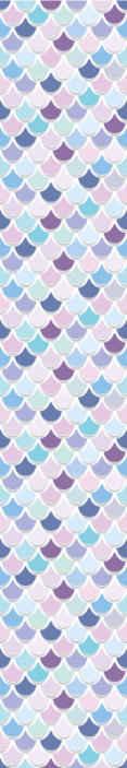 TenStickers. Behang Zeemeermin schaal. Zeemeermin behang met een patroon dat lijkt op zeemeermin of vissenschubben in verschillende kleuren. Kies uw maat.