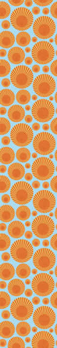 TenStickers. 70's Sunshine Geometric Wallpaper. Colorful sunshine wallpaper illustration design for home and office decoration. It is original, durable, removable, waterproof and easy to apply.