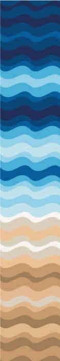 TenVinilo. Papel pared abstracto patrón arena azul. Nuestro papel pared abstracto de playa de verano tiene un diseño único que te hará sentir en pleno mar ¡Descuentos disponibles!