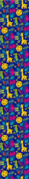 TenVinilo. Papel pared infantil animales salvajes. Papel pared infantil colorido con animales de la selva como pájaros loro, jirafas. Elige las unidades que desees ¡Descuentos disponibles!