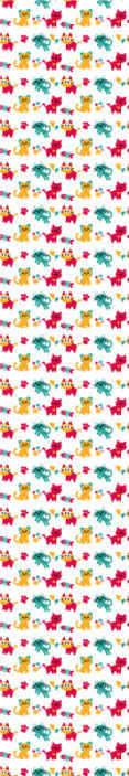 TenStickers. Behang kinderkamer Behang multicolour katten. Personaliseer de slaapkamer van uw kind met ons kleurrijke katten kinderkamer behang met verschillende katten illustraties, visgraten, voetafdrukken en meer.