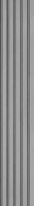 TenStickers. vertikal Tapete Graue breite vertikale gestreifte Tapete. Dekoratives graues vertikales streifentapeten-design imitiert eine gut polierte metalloberfläche, die in streifenschichten eingebaut ist. Ein hauch von luxus-design für zu Hause.