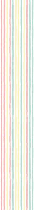 TenStickers. Papel de Parede riscas Tiras pastéis irregulares. Que tal renovar a sua casa com este papel de parede listrado em tons pastéis irregulares. Uma ótima ideia de papel de parede decorativo para quartos de crianças e outros espaços.