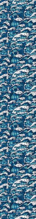 TenStickers. Carta da parati con paesaggi Onde selvagge. Un design di carta da parati a motivi decorativi con onde marine naturali. Prenderebbe sicuramente il controllo del tuo spazio domestico con un'impressione straordinaria.