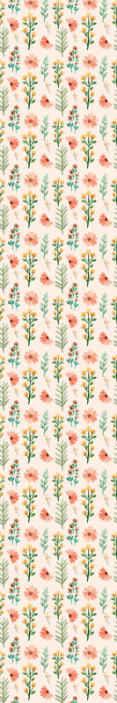TenStickers. Behang bloemen Aquarel bloemen. Een kleurrijk verschillende planten behang om de muren van u huis te versieren. Het kan in elke ruimte van uw huis worden toegepast en is gemakkelijk aan te brengen.
