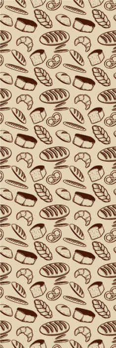 TenStickers. Bakery seamless kitchen vinyl wallpaper. Looking for a kitchen wallpaper with a food theme to cover the wall?.  This featured bakery seamless kitchen wallpaper would be a perfect choice.