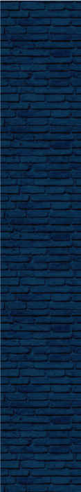 TenStickers. Blue textured Brick effect wallpaper. Brick wallpaper which features a pattern of bricks that have been painted blue. Super simple to apply to your walls. High quality.