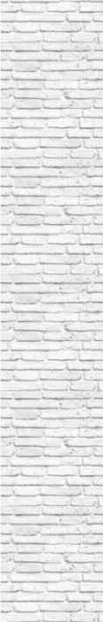 Tenstickers. Valkoinen kuvioitu tiili tiilitapetti. Tiiletapetti, jossa on valkoisten tiilien kuvio, joka tekee kodistasi minkä tahansa seinän näyttävän puhtaalta, maalatulta tiileltä.