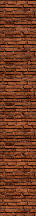 TenStickers. Carta da parati effetto mattoni Mattone marrone. Carta da parati in mattoni che presenta un motivo di mattoni marroni che sembra molto realistico. Disponibile in varie misure. Materiali di alta qualità.