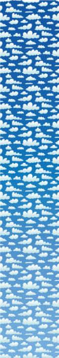 Tenstickers. Himmel med moln lounge tapet. Dekorativ himmel med moln 3d tapet för hem. Tapeten är tillverkad av högkvalitativt material och är tålig och lätt att applicera.