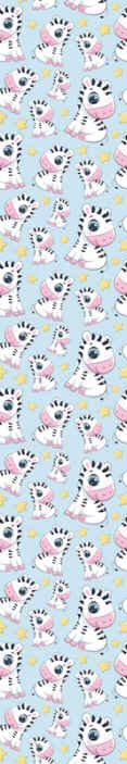 TenStickers. Cute Zebra and Stars Wallpaper. Zebra and stars wallpaper features a cute pattern of cartoon zebras surrounded by stars. Easy to apply. High quality materials.