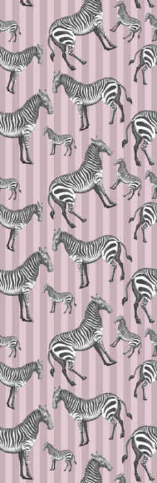 TenStickers. Vintage Zebra Illustration Cool animal wallpaper. Decorative vintage zebra Illustration animal wallpaper for home and other space decoration. It is durable, original and easy to apply and remove.