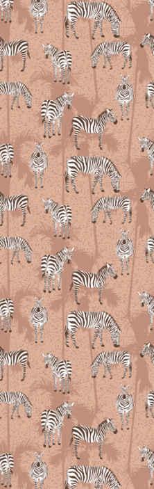 TenVinilo. Papel pared animal cebras y palmas . Si buscas decorar tu hogar con un fondo más vintage con diseño de animales, entonces este papel pared animal de cebra y palmeras es una buena opción.