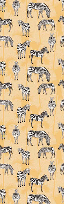 TenStickers. Zebra and palms Cool animal wallpaper. This zebra and palm patterned wallpaper is suitable to decorate children room and it can also be decorated on other rooms in a house.