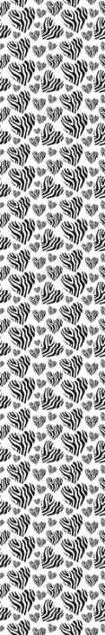 TenStickers. papel de parede animais Zebra animal print coração. Belo produtode papel de parede de impressão de coração de zebra animal para decorar sua casa para ter uma aparência adorável. é fácil de aplicar e removível.