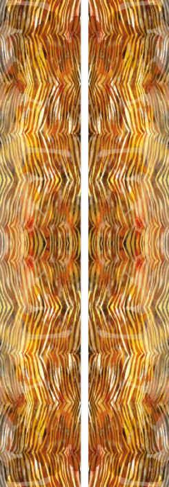TenStickers. Carta da parati con animali Struttura dell'acquerello della zebra. Decorare la parete di un soggiorno, camera da letto, ufficio o qualsiasi altro spazio con questa carta da parati con stampa zebrata. Facile da applicare e durevole.