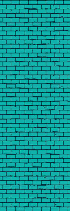 TenStickers. Aqua Lounge Wallpaper. Luxury wallpaper with an aqua colored brick design that will give a peaceful and illuminated feeling to the room where you want to install it.