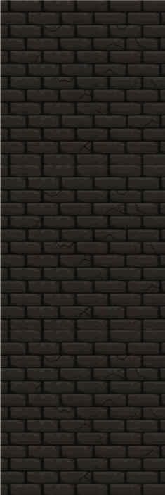 TenStickers. Carta da parati effetto mattoni Buio. Carta da parati a fantasia con l'illustrazione di mattoni scuri che darà un tocco di eleganza e glamour a qualsiasi parete tu voglia installarla.