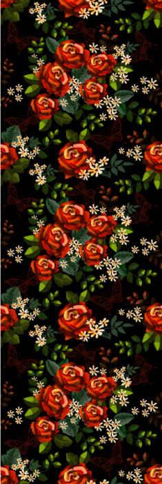 TenStickers. papel parede outros vintage Jardim glamoroso. Papel de parede vinílico com um lindo desenho de jardim repleto de flores que encherão sua casa de alegria e glamour com um desenho cheio de harmonia, natureza.