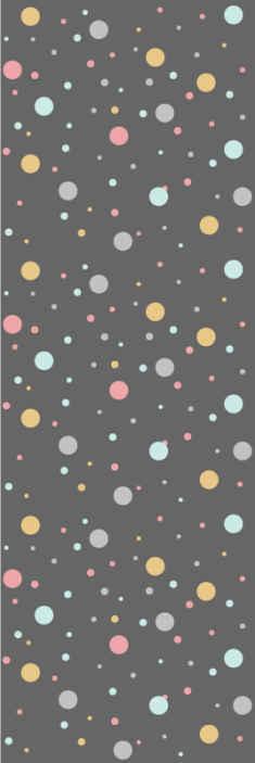 TenVinilo. Papel pintado círculos coloridos pastel. Papel pintado círculos con muchos puntitos de colores que llenarán de alegría y color el lugar donde quieras instalarlo ¡Descuentos disponibles!