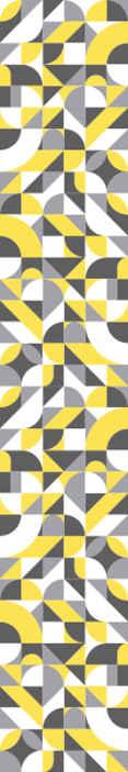 TenStickers. Papier peint graphique Géométrique gris et jaune. Décoration de papier peint de forme géométrique multicolore pour votre maison, lieu de travail, etc. Il est fabriqué avec un matériau de haute qualité