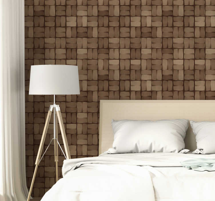 TenStickers. Stones: mosaic Textured Wallpaper. Textured wallpaper with a sublime geometric pattern in stone texture that will fit in a unique way in your kitchen or living room.